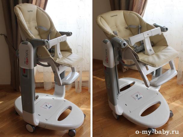 Сиденье отклоняется назад, и малыш может находиться в полулежачем положении, чтобы уснуть.