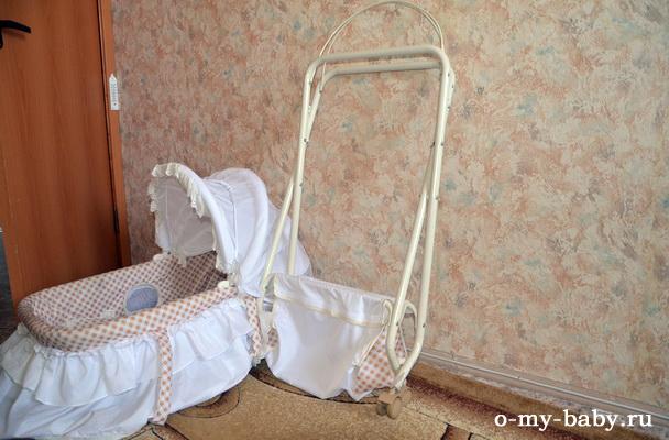 Колыбель Отзыв Катерины о кроватке-колыбели Leader Kids SD-116. в разобранном виде.