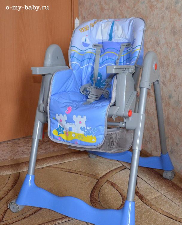Красивый и удобный на колёсиках, в голубом цвете, подходит для мальчика.