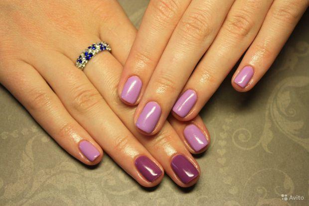 Дизайн ногтей однотонное покрытие фото