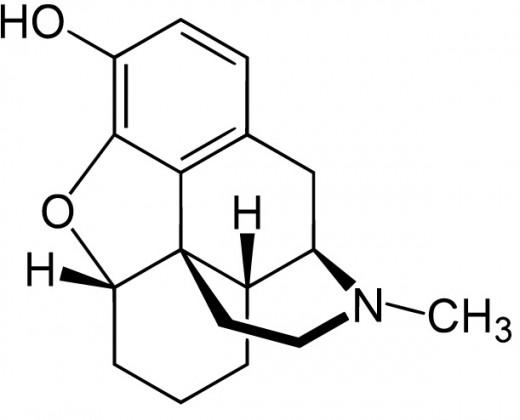 Структурная формула дезоморфина