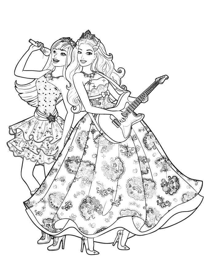 Розмальовки Барбі — Zdorovia