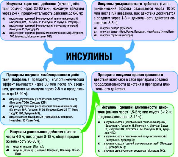 Препараты инсулина классификация