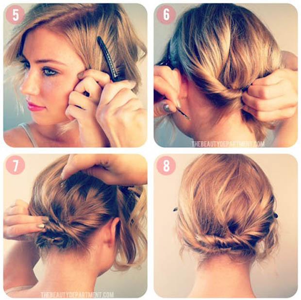Причёска своими руками фото короткие волосы