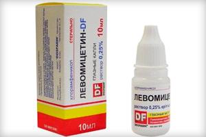 Способ применения глазных капель Левомицетин