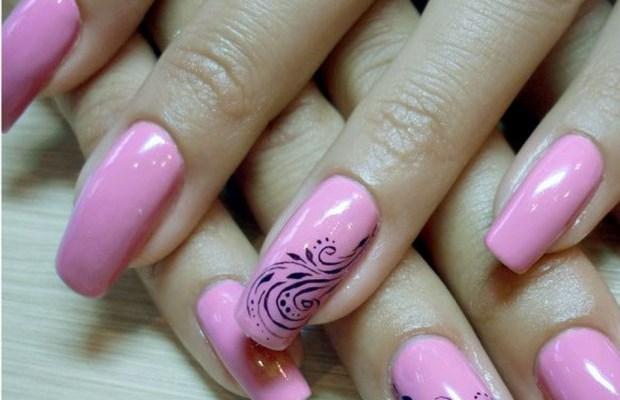 Дизайн ногтей гель лаком фото новинок 2015 розоватый оттенок