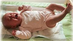 Колики у новорожденных, симптомы