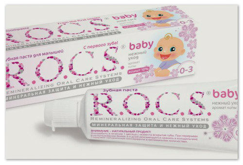 Зубная паста ROCS.