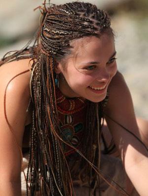 Афрокосички на короткие волосы с дополнительным материалом