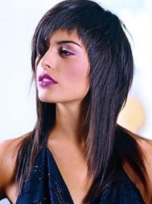 Вариант асимметрии на длинные волосы