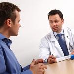 Мужчина на приёму у врача