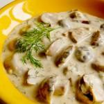 Блюдо из белых грибов