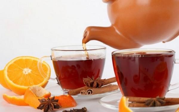 Чай на апельсиновых корках