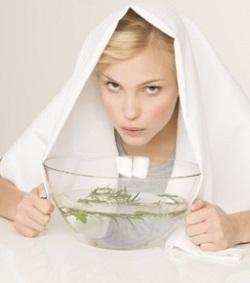 чистка лица паровой ванной,фото