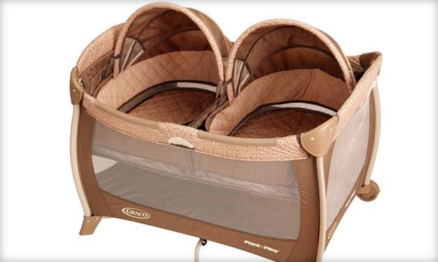 манеж кровать для двойни