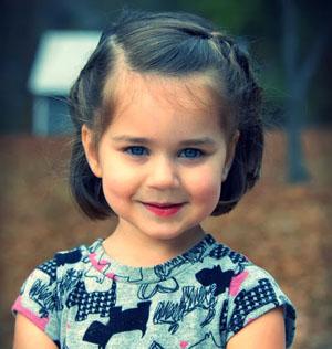 Варианты детских причесок на короткие волосы