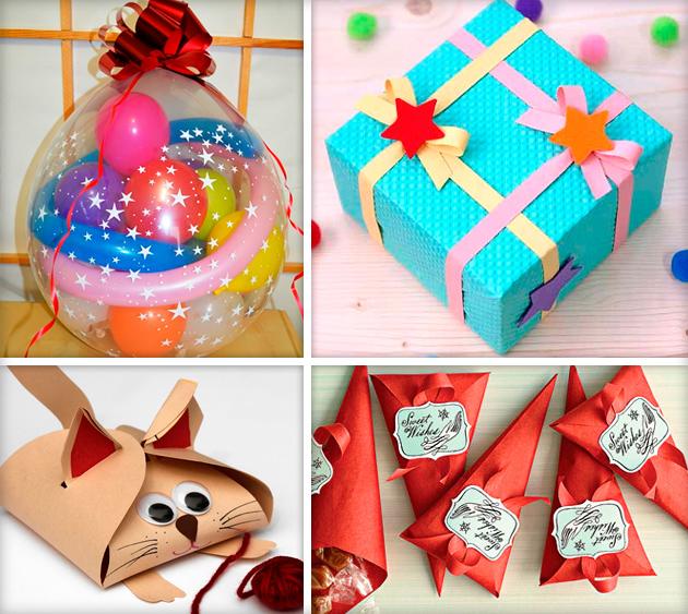 Украшение подарков на день рождения своими руками 56