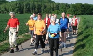 скандинавская ходьба пожилые