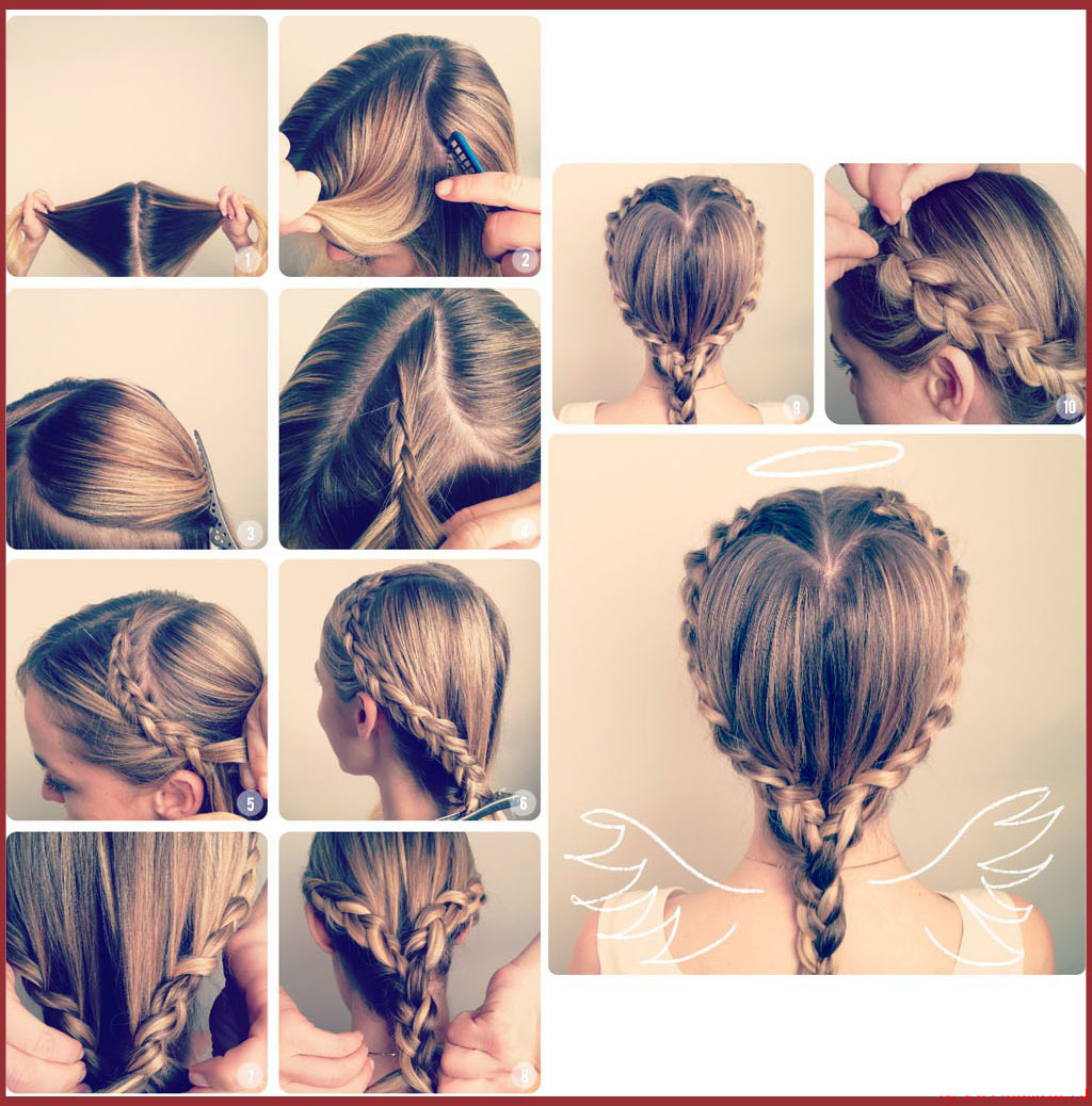 Плетение кос на длинные волосы девочкам пошаговая инструкция фото
