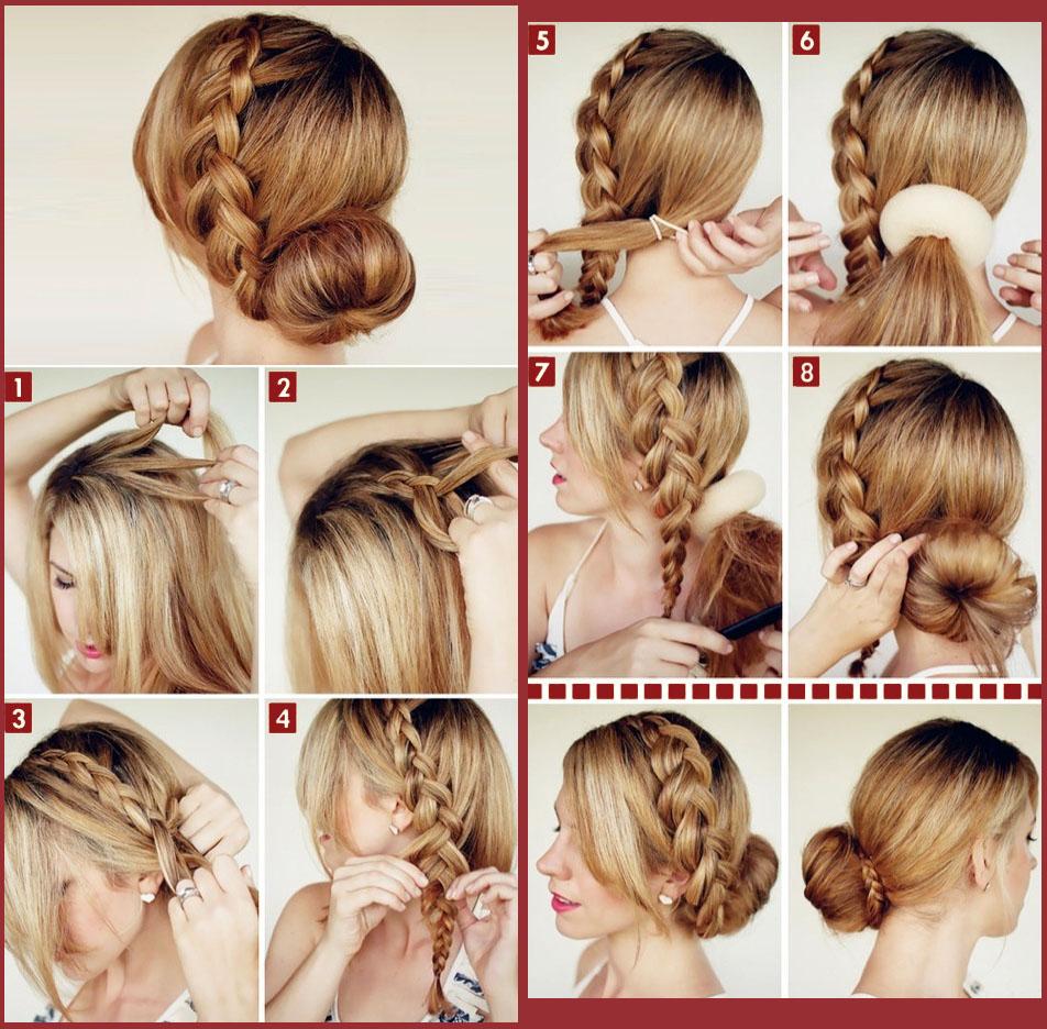 Плетение волос своими руками на средние волосы 967