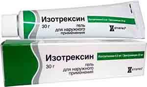 гель изотрексин