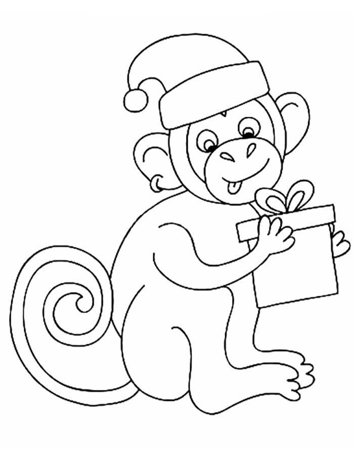 Картинки раскраски обезьян к новому году