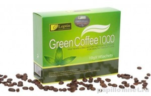 Фото упаковки зеленого кофе с имбирем