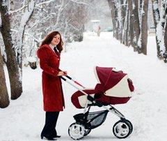 Как гулять с новорожденным зимой?