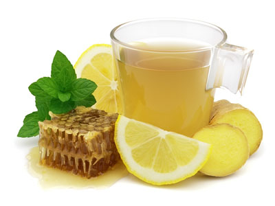 лимон, мед, чай