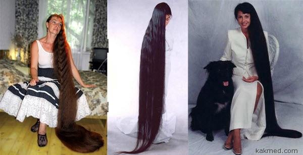 Как отратсить волосы?