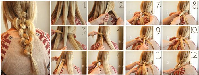 Как самостоятельно заплести косу из 5 прядей