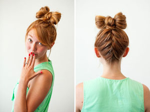 Как сделать оригинальный бант из волос