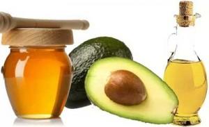 мед, авокадо. масло