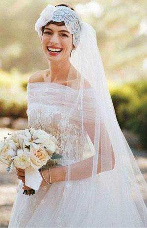 Аксессуары для свадебной прически на короткие волосы