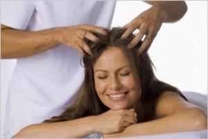 лечебный массаж головы