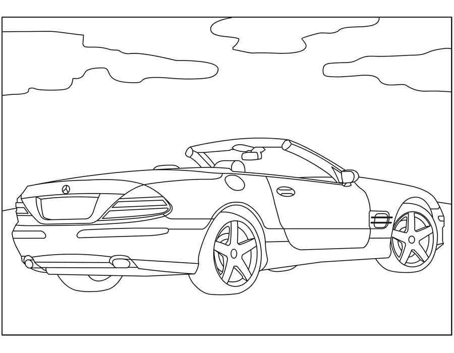 Розмальовки машини Mercedes — Zdorovia