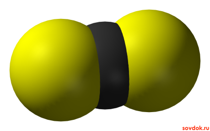 молекула сероуглерода