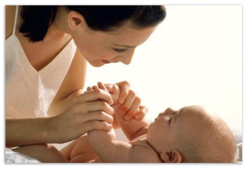 Мамочка и ребенок.
