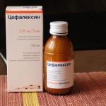 Цефалексин в форме порошка для приготовления суспензии