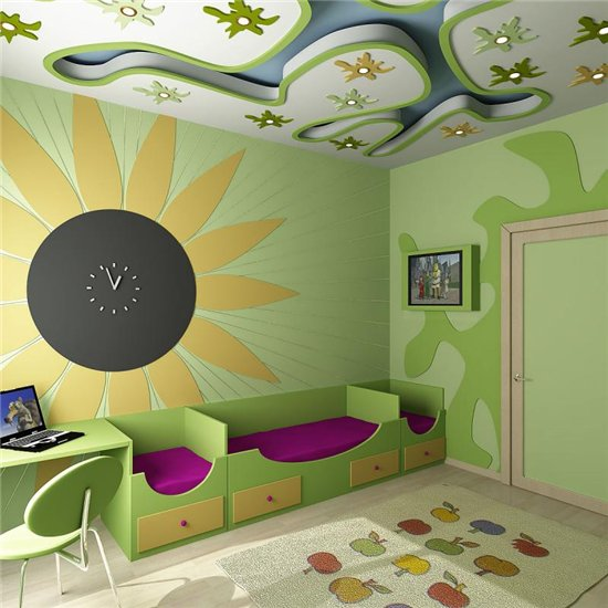 Как делать дизайн детской комнаты