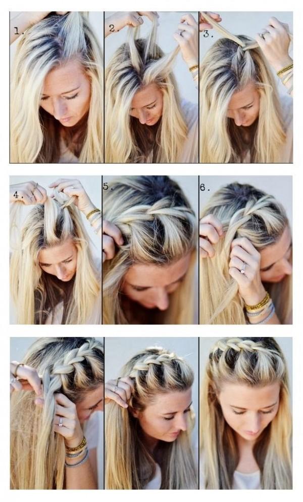 Объемные косы с распущенными локонами