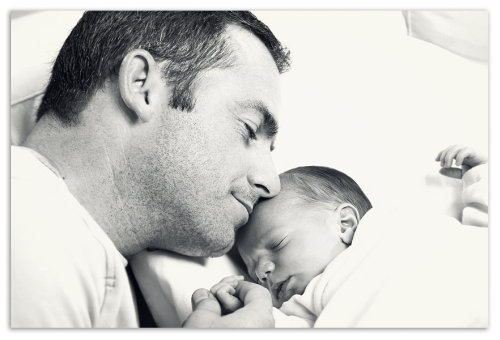 Малыш с папой.