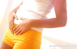 Фото девушки с подозроением на появление полипов в матке