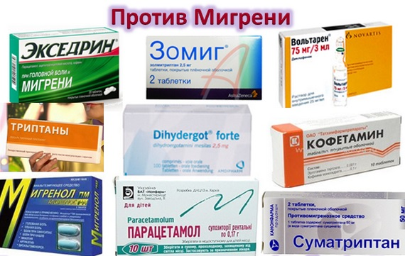 Список таблеток от головной боли и мигрени