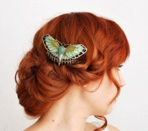 Прическа для рыжих волос