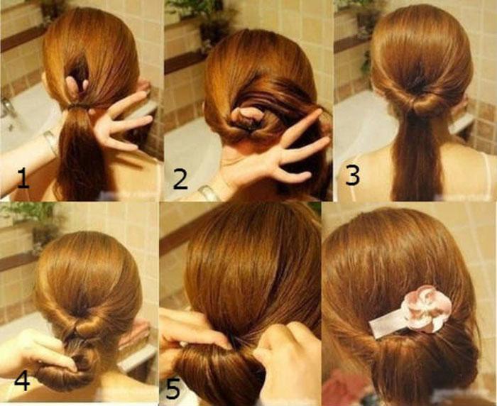 Прическа на длинные волосы своими руками в домашних условиях фото пошагово