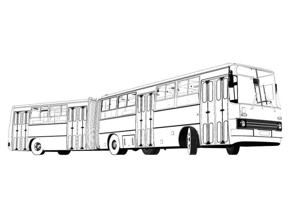 Раскраска автобус