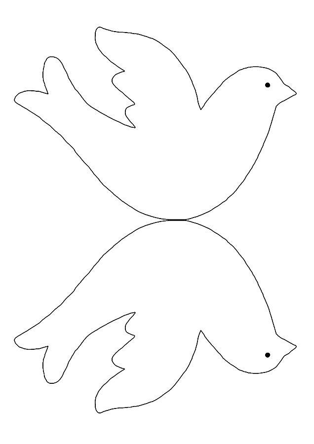 Шаблоны объемного голубя из бумаги своими руками 8