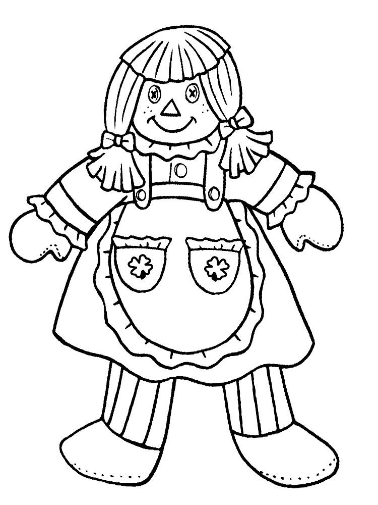 Раскраска кукла