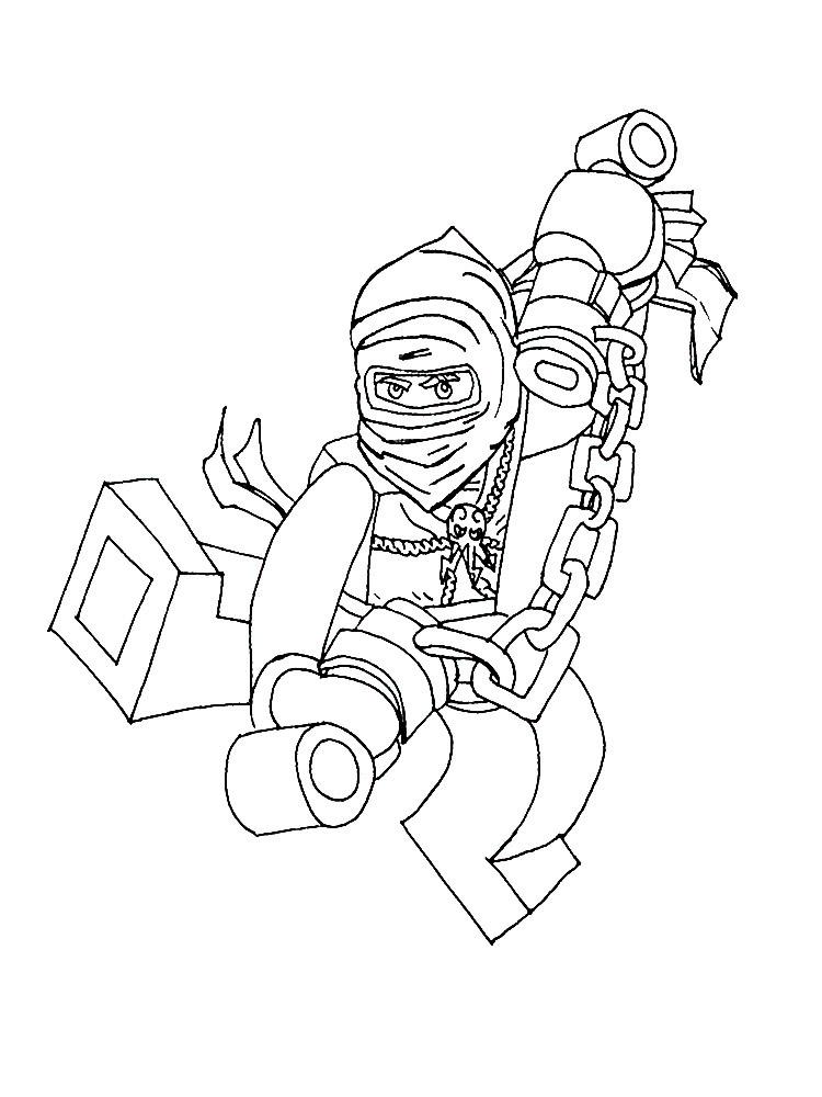 Раскраска Лего Ниндзяго